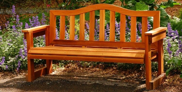 best material for an outdoor bench