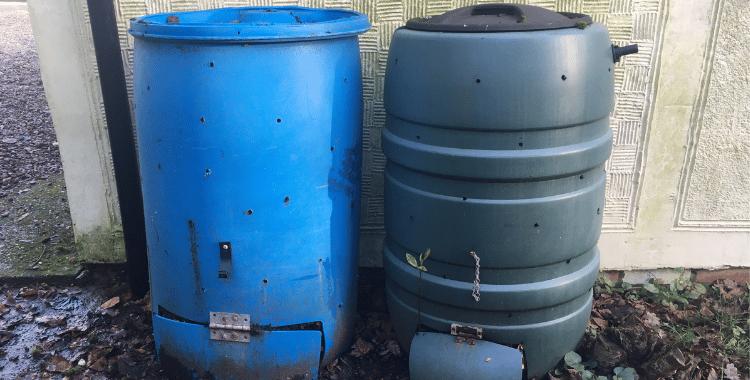 two compost barrels