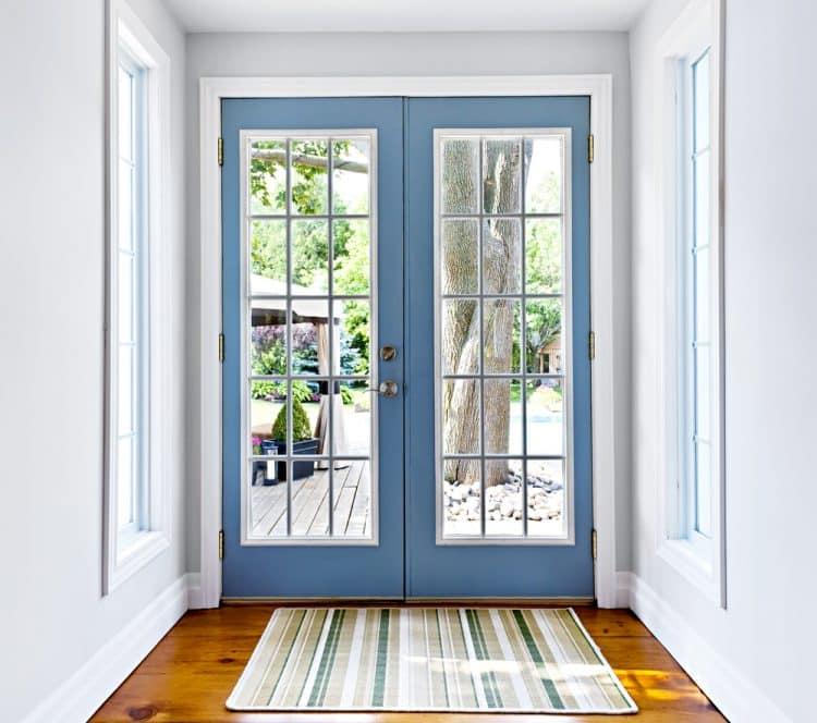 Patio door as front door