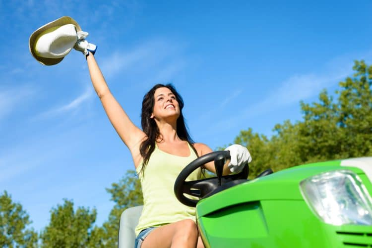 Are lawn mowers road legal?