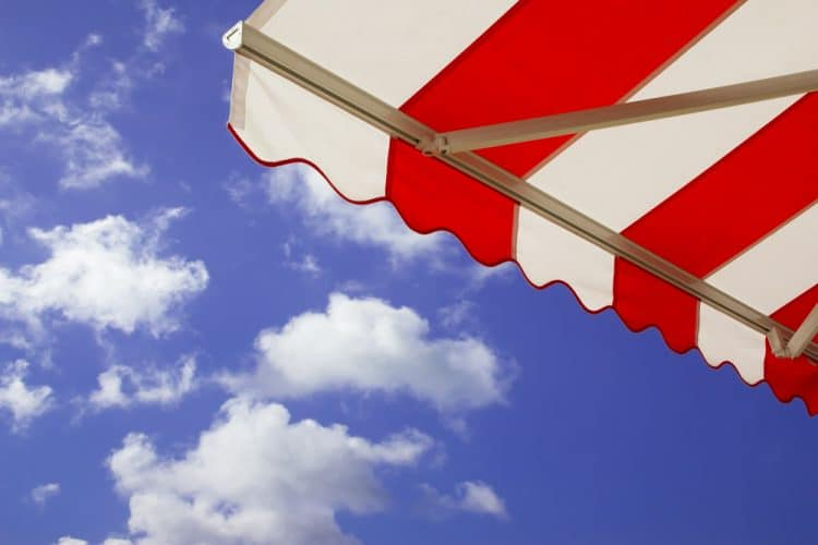 Colorful patio awning