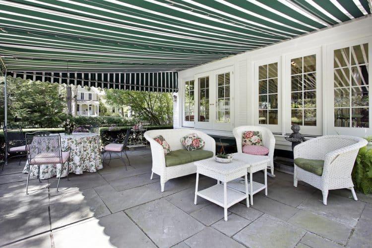 Acrylic patio awning