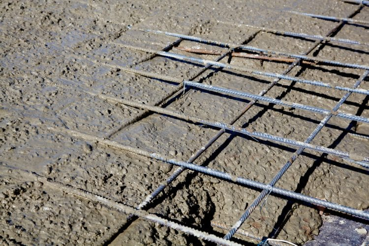 Rebar grid in concrete