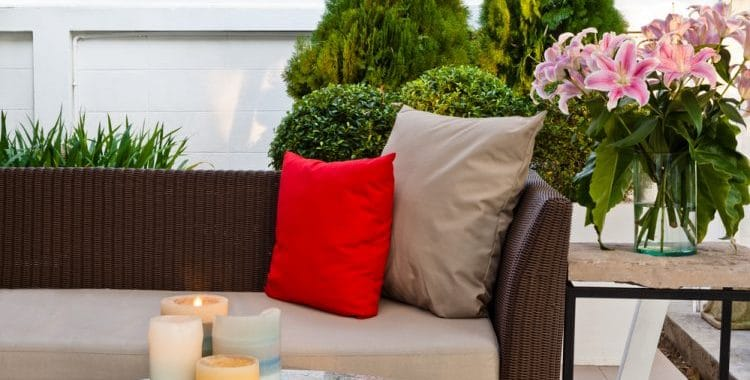 Are outdoor patio furniture cushions waterproof?