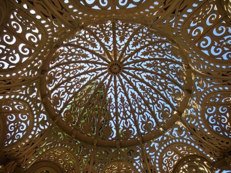 Ornate metal gazebo