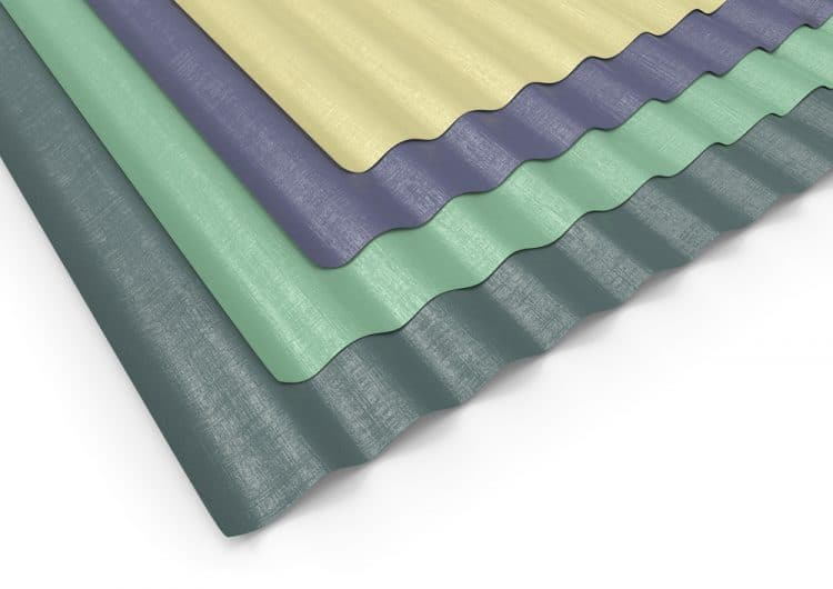 Corrugated sheets of PVC
