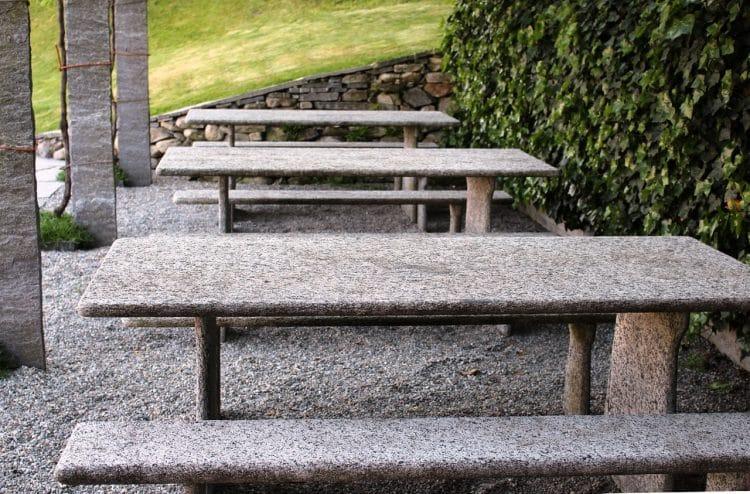 Concrete patio tables