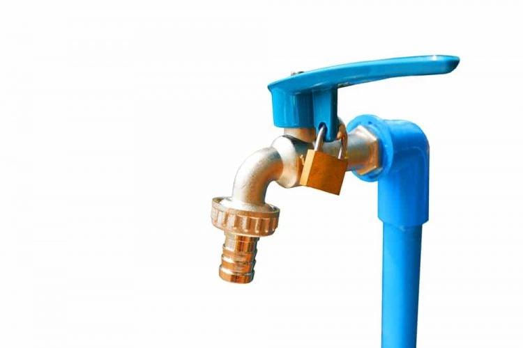 Outside faucet lock