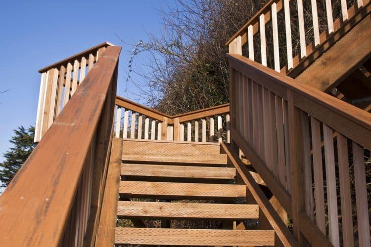 Decking stairs handrail