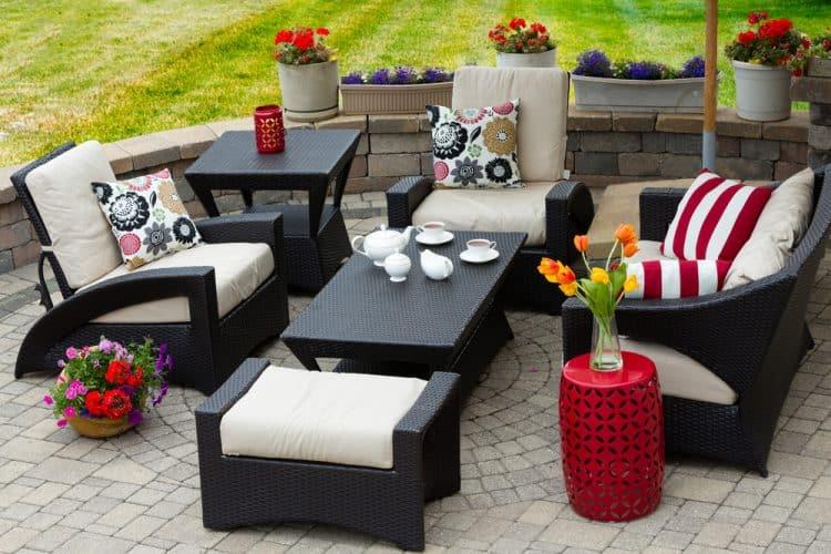 Matching patio furniture